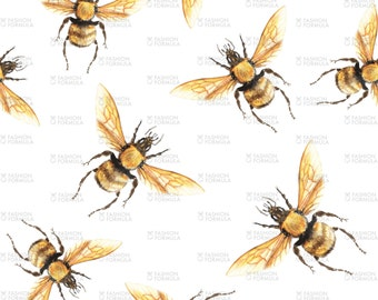 Honey Bee Golden Fabric by ThistleandFox