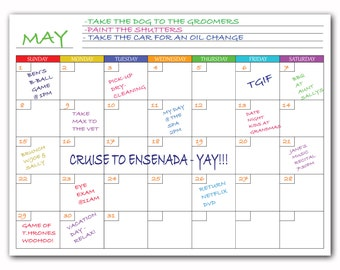 how to make a monthly dry erase calendar board