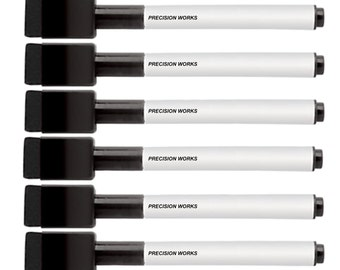6 Pack Black Or Red Dry Erase Markers With Magnetic Cap