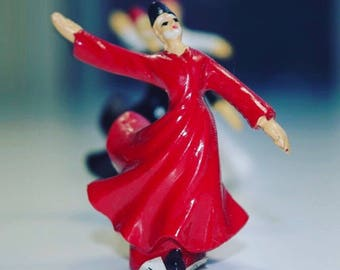 Handmade Turkish Dancing Whirling Sufi Dervish Figurine