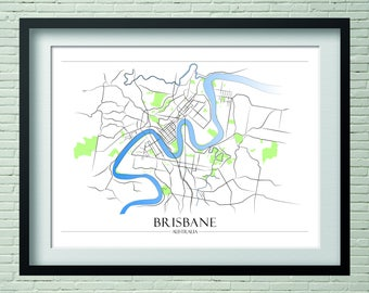 Brisbane - hand illustrated map