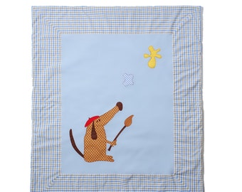 "DogsLoveCats baby blanket ""Hundy"" makes your child happy."
