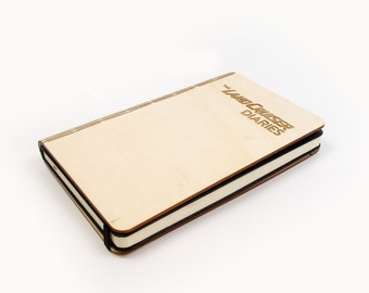 Wooden personalized notebook