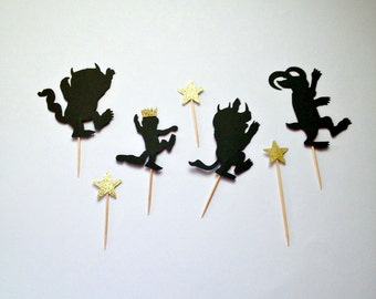 Where The Wild Things Are Cupcake Toppers, Where The Wild Things Are Party, Wild Things Cupcake Picks