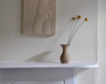 Tree Motif Handmade Ceramic Vase