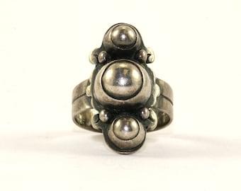Vintage Medieval Style Ring 925 Sterling Silver RG 416