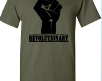 Revolutionary Tee Shirt with Power Unity Fist
