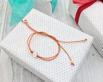Karma bracelet, gift for yoga lover, Yoga bracelet, medium silver circle, wish bracelet, circle bracelet, gift for her