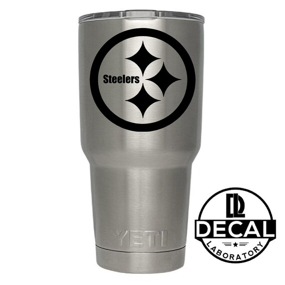 Yeti Decal Sticker - Pittsburgh Steelers Decal Sticker For Yeti RTIC Rambler Tumbler Coldster Beer Mug