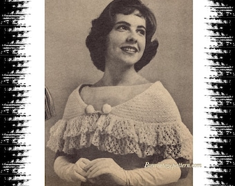 Vintage Prom Capelet crochet patern in PDF instant download version