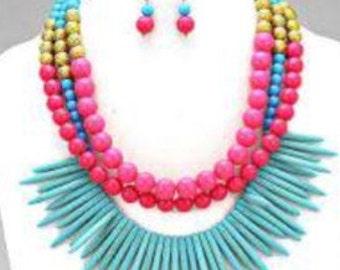 Beaded Multi Necklace Set