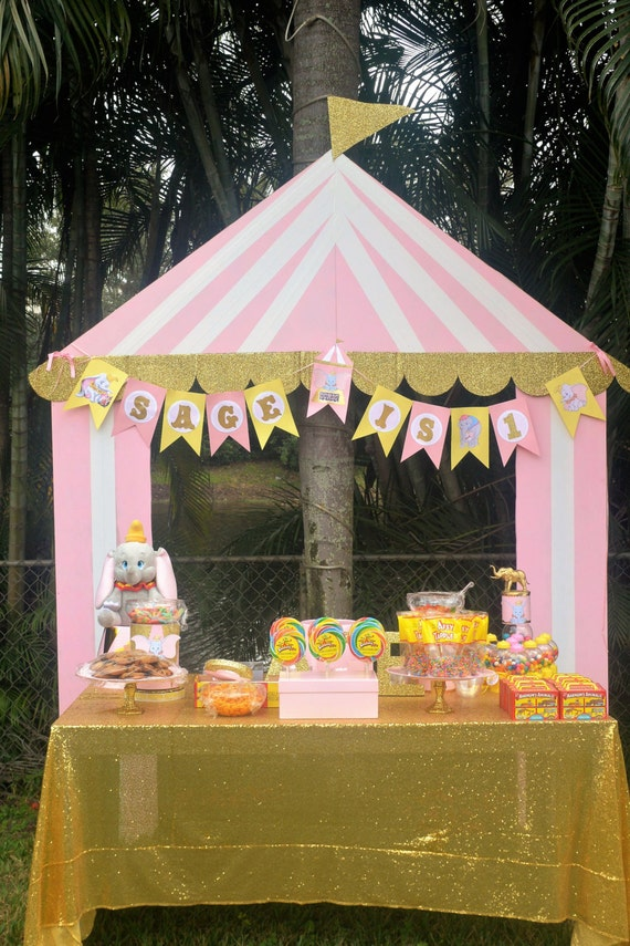 Like this item? & Circus Tent Prop/Backdrop Pink and gold Party / Circus Party