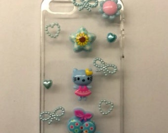 Blue hello kitty iphone5s case