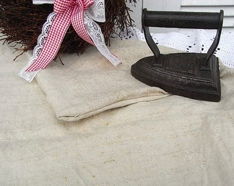 1 grain sack burlap sack, sack, linens, handwoven to 1900 linen Leno shabby chic