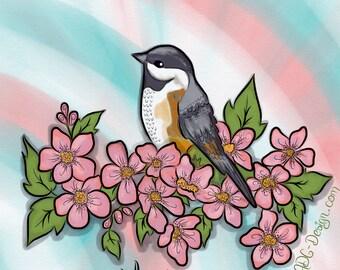 Bird and flowers. Mat 6:26-29