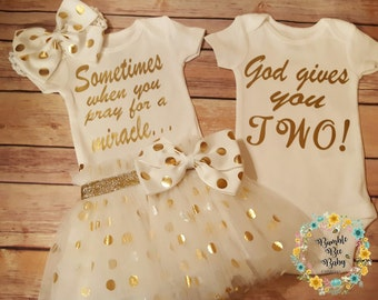 Twins, Twin Girls, Twin Boys, Girl Boy Twins, Newborn, Great Baby Shower Gift or Coming Home Outfits