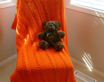 Orange Knit Blanket