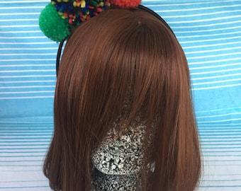 Bright Handmade Pom Pom Headband Hair Accessory