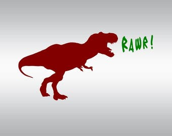 dinosaur rex rawr dinosaurs SVG Clipart Cut Files Silhouette Cameo Svg for Cricut and Vinyl File cutting Digital cuts file DXF Png Pdf Eps