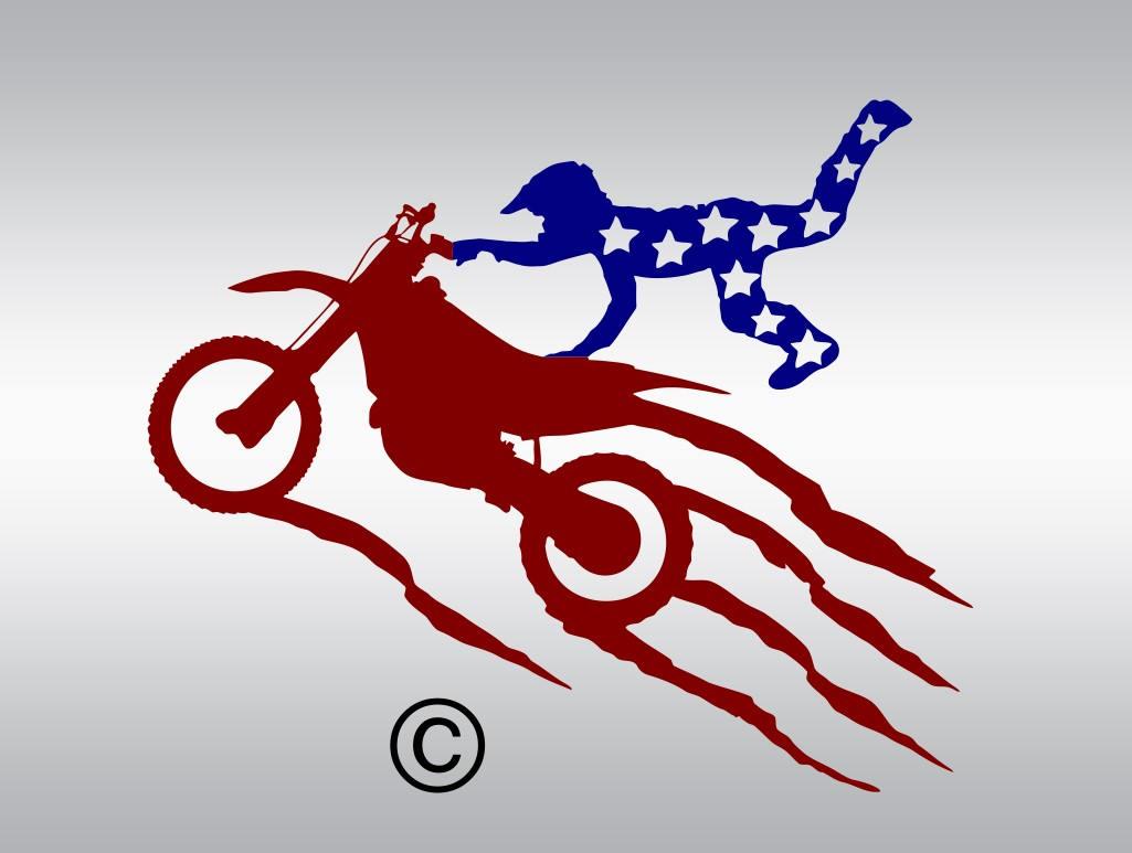 Texas Dirt Bike Motocross Silhouette SVG PNG DXF amp EPS