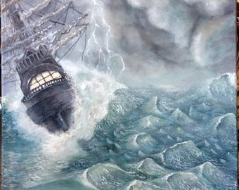 """Ship in storm