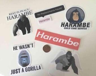 Harambe stickers