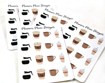 Planner Stickers - Functional Planner Stickers - Happy Planner Stickers - Day Designer - Mini Sticker Set - Coffee Stickers