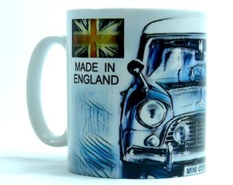 Mini Cooper Mug, Classic Car Mug, Ideal Gift for Mini Enthusiasts.