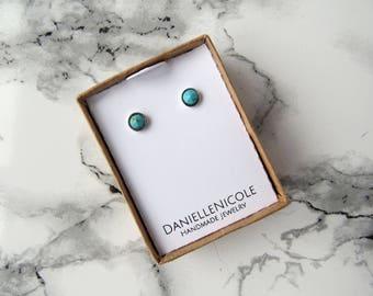 Turquoise Cone Earrings, Stud Earrings, Simple Earrings, Statement Earrings, Statement Jewelry, Boho Jewelry, Boho Earrings, Boho Chic
