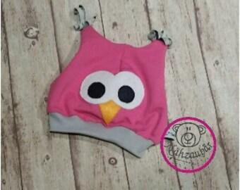 "OWL hat ""Greta"" head size 33/34 - 57 / 58 (sample image)"