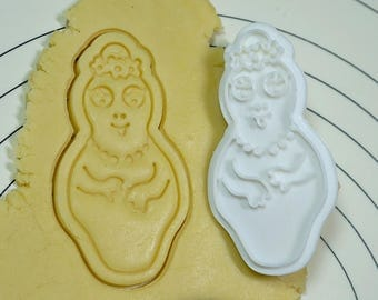 Barbamama Cookie Cutter and Stamp