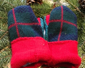 Upcycled Sweater Mittens, toddler