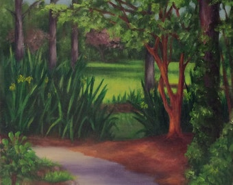 Oil painting - Children's Garden