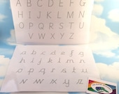 Cursive tracing sheets Alphabet Number tracing Learn to write name ABC EYFS Cursive writing Wipe clean Letter tracing sheet