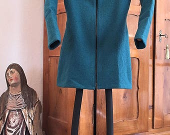 Walking jacket, hooded jacket, coat in turquoise, Gr. 38/40
