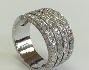 Thick Wedding Band Or Anniversary Diamond Ring