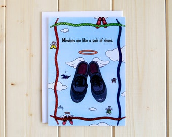 Missionary Greeting Card - Mission Shoes