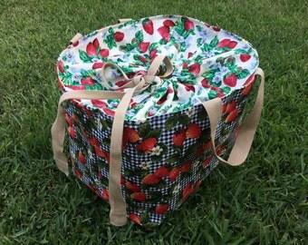 Strawberry Picnic Bag