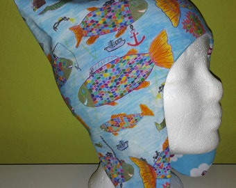 Reversible hat Rainbow fish/birds from KU 50 cm