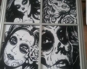 Voodoo Girls Engraved Tile in a Frame