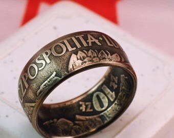 1959 Polsca-Rzeczpospolita-Ludowa 10 Coin Ring
