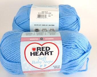 Baby Blue - Red Heart Soft Baby Steps Yarn Baby Yarn  - 3044