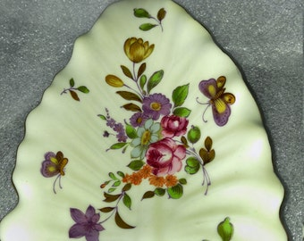 Vintage Lefton China Leaf Dish Handpainted #759