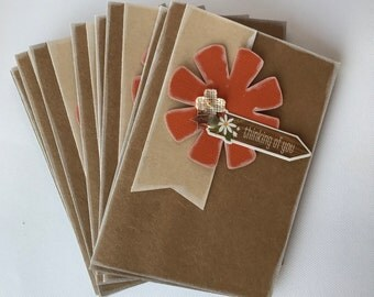Flower Mixed Sentiment Craft colored cards