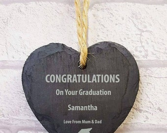 FREE P&P graduation gift, small love heart hanger