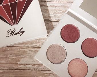 Pressed eyeshadow palette - July birthstone - Ruby