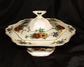 John Maddock  & Sons Lombardy Hexagon Covered Vegetable Bowl