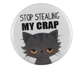 "Stop Stealing 1.25"" Button Pin"