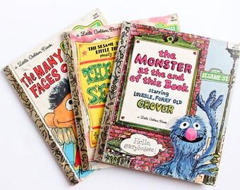 Little Golden book 3 Sesame Street 1979 books