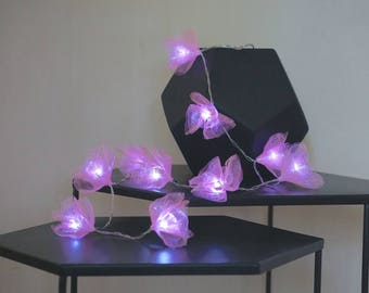 Fairy Lights handmade flowers ; Pink ; 10/20/30; string lights;LED Battery operated